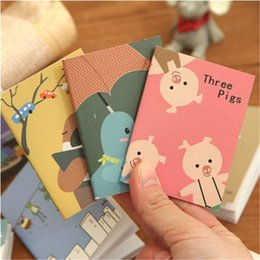 animal mini notepads NZ - 4 pcs lot Mini Kawaii Notebook Diary Book Cartoon Animal Notepads Planner For Kids Students Gift School Supply Korean Stationery
