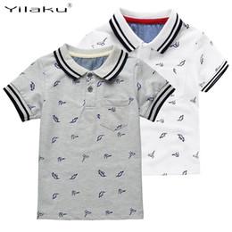 $enCountryForm.capitalKeyWord Australia - New Summer Dinosaur Boys T-shirts Cotton Kids Tops Sports Tee Turn-down Collar Boys Polo Shirts 2-7y Children's Clothing