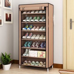 $enCountryForm.capitalKeyWord Australia - 7 Tier Shoe Rack Canvas Fabric Shoe Rack Storage Cabinet Rail Shoes Organizer Zipper Standing Sapateira Organizador