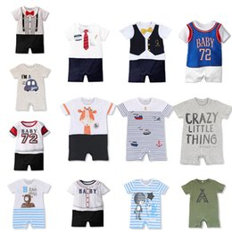 $enCountryForm.capitalKeyWord Australia - New Summer Baby Boy girl clothes Short Romper Basketball Uniform Toddler Kids Print Onesie Baseball Sport Style Jumpsuit Infant Outfits