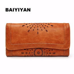 $enCountryForm.capitalKeyWord NZ - Hollow Out Pattern Retro Wallet Female Purse Pu Leather Handbag Practical Women Wallets And Purses Vintage Long Wallets