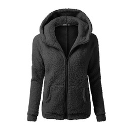 $enCountryForm.capitalKeyWord Australia - Women Jacket Ladies Hoodie Winter Solid Casual Slim Fit Jumper Tops Zipper Outwear Pullover