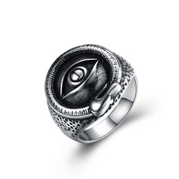 Rings Hipsters NZ - Eye style fashion punk style ring Fashion hipster jewelry stainless steel men's ring