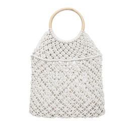 Big Ladies Handbags Australia - Maison Fabre Fashion Women Big Size Handbag Female Straw Woven Tote Solid Color Wild Hollow Beach Bag Ladies Casual Shoulder Bag
