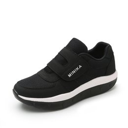 Hot Sale- Women's Sneakers Platform toning Wedge Fitness zapatillas Old People sports shoes for Women Swing Shoes Slimming on Sale