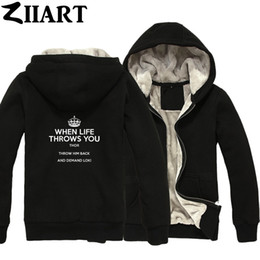 knit throw patterns NZ - imperial crown when life throws you thor throw him back and demand loki Boys Man Male Full Zip Winter Plus Velvet Parkas ZIIART