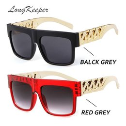 7c83e9563bfe97 Discount kardashian sunglasses - LongKeeper Oversized Gold Chain Kim  Kardashian Beyonce Sunglasses Men Women Steampunk Hip