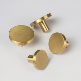 wardrobe knobs UK - B furniture knob solid brass handles for furniture wardrobe cabinet doors Kitchen Drawer Cabinet Pull Handle with screws