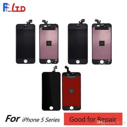 Iphone 5c Digitizer Replacement Australia - 5 Screen Replacement for iPhone 5 5S 5C LCD Display Digitizer Touch Screen with Frame Full Assembly Replace Free DHL Shipping