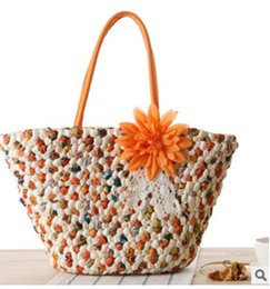 $enCountryForm.capitalKeyWord Australia - bags handbags New flowers straw package summer vacation fashion woven bag beach bag handbags fashion handbag