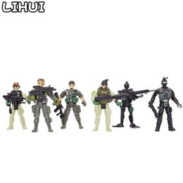 Chinese  12Pcs set American Soldiers Military Model Toy Heroic Soldier Modeling Movable Joints Toys for Boys Toys Gift for Children manufacturers