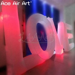 Glow Party Decorations Australia - Popular shimmering inflatable letters decoration,glowing inflatable alphabets in shape of LOVE for party,event or wedding