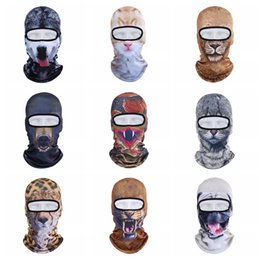 animal face masks Australia - Motorcycle Full Face Mask 3D Animal Cat Dog Hat Windproof Breathable Airsoft Snowboard Cycling Ski Beanie Cap TTA1946