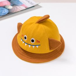 fallen hats Australia - Amazon Hot Sales Small Dinosaur Pot Hat Fall 2019 New Baby Hat Cartoon Baby Hat Benhui Wholesale