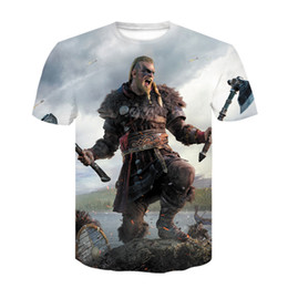 Discount creed clothing 2020 New Summer Male Assassin's Creed T-shirts O-neck Tshirt Child Trend Clothing Print Funny Short-sleeved Childre