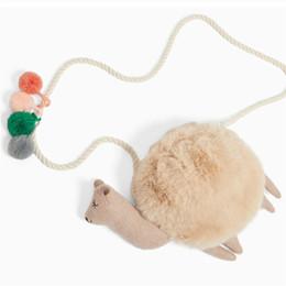 $enCountryForm.capitalKeyWord Australia - Kids Girls Mini Plush Coin Purse Cute Alpaca Shoulder Bags Faux Fur Crossbody Messenger Bag Children Cartoon Phone Small Handbag