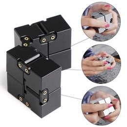 Kids Blocks Wholesale Australia - Infinity Cube Mini Fidget Toy Finger EDC Anxiety Stress Relief Magic Cube Blocks Adult Children Kids cure anxiety Reduced pressure toy