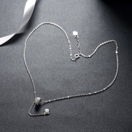 $enCountryForm.capitalKeyWord NZ - 925 Sterling Silver Necklace Fashion Ladies Silver Beads Zircon Pendant Necklace Exquisite Lady Valentine's Day Gift Sterling Silver Jewelry