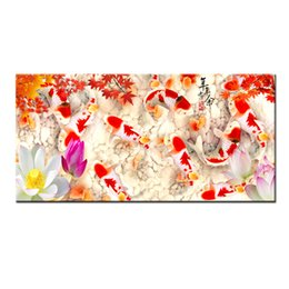 Gifts Wall Art China/'s Wind Feng Shui Koi Fish Painting printed On Canvas Decor