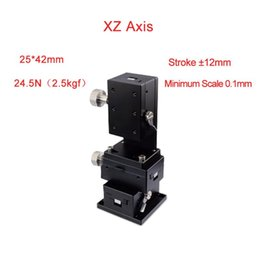 stage parts Australia - XZ Axis 25*42 Trimming Station Manual Displacement Platform Micrometer Sliding stage Steel ball guide PLWE 2542