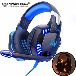 Yellow Gaming Laptop Australia - KOTION EACH Gaming Headphones Headset Deep Bass Stereo wired gamer Earphone Microphone with backlit for PS4 phone PC Laptop