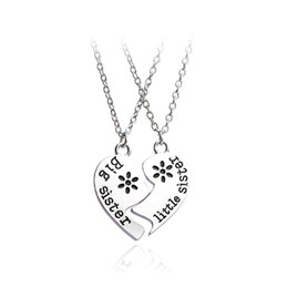 Link two online shopping - Two piece Necklace The Best Sister And Sister Pendant Necklace Twin Sisters The Best Gift Necklace Fashion Personality Can Be Customized