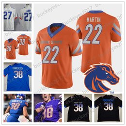 bronco jersey manning NZ - 2019 Boise State Broncos #38 Leighton VanderEsch 27 Jay Ajayi 8 DeMarcus Lawrence 22 Doug Martin Orange Black Blue Retired Football Jersey