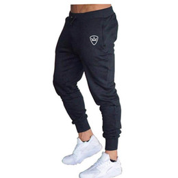 Wholesale workout tracking resale online – fitness sportswear New Style Mens Brand Jogger Sweatpants Man Gyms Workout Fitness Cotton Trousers Male Casual Fashion Skinny Track Pants