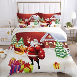 twin size bedding sets for kids UK - Duvet Cover Set EUR UK size Cartoon Bedding Sets for Kids Baby Children Blanket Quilt Cover Bed Linings Christmas Santa Claus