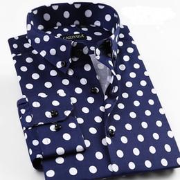 $enCountryForm.capitalKeyWord Australia - Grevol New Arrival Men's Fashion Casual Long Sleeve Shirts Unique Design Polka Dot Shirts Modern Fashion Of Pop Element Y190506