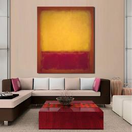 $enCountryForm.capitalKeyWord Australia - 1 Piece Rothko Classical Yellow Purple Oil Painting Wall Art Picture Home Decor Canvas Print Living Room Modern No Frame