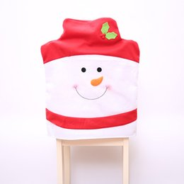 red blue chair Australia - 1pc Christmas Chair Ornaments Christmas Decoration for Home Red Blue Black Snowman Print Xmas Decoration Christmas Accessories