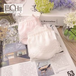 Wholesale beautiful white underwear for sale - Group buy Fairy Princess super beautiful sweet day pure white girl underwear super fine soft milk silk side ladies underwear JF2122