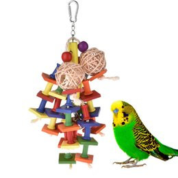 Toy Ball Bell Australia - Colorful Birds Parrot Toys Sisal Rope Rattan Ball Climbing Toy Chewing Toy With Bells For Pets Birds Parrots Dropshipping