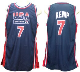 9170c2072 1994 Olympic Team Dream USA Shawn Kemp  7 Retro Basketball Jersey Mens  Stitched Custom Any Number Name Jerseys