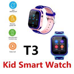 $enCountryForm.capitalKeyWord Australia - Slimy T3 Waterproof Kid Smart Watch 4G Remote Control Camera GPS WIFI Kids Children Students Smartwatch SOS Video Call GPS Tracker Q50