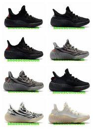 Infant zebra shoes online shopping - Kanye West Zebra Infant Kids Boys girl running shoes Bred Beluga toddlers athletic Children sneakers Cream Sesame V2 II Trainer