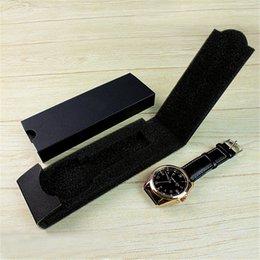 Yüksek Kalite Lüks Deri İzle Kutusu Kasa Siyah Yeni Saatler Kutuları Katlanır Bileklik Takı Bilezik Tutucu Ambalaj Karton Hediye