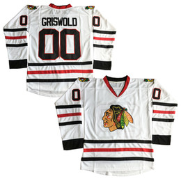 vacaciones de navidad al por mayor-Clark Griswold X Mas Christmas Vacation Movie Hockey Jersey White Movie Jerseys Cosido rápido Envío gratis