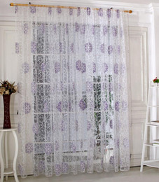 scarf valances NZ - Leaf Flower Tulle Light transmission Window Curtain Voile Drape Sheer Scarf Valances curtains for the living room