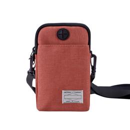 31de80fac Phone Earphone Hole UK - 2019 New Casual Men Multifunctional Waterproof  Phone Bag Mini Crossbody Bags