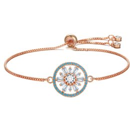 AmAzing brAcelets online shopping - Handmade Tennis Charm Bracelets Bangles Women rose gold Bracelets With Zircon Stones Femme Amazing Party Jewelry