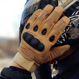 Leather Gloves Sale Australia - Hot Sale Quality Military Motorcycle Gloves Full Finger Outdoor Sport Racing Motorbike Motocross Protective Gear Breathable Glove For Men