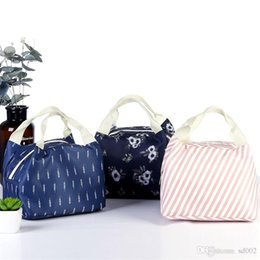 $enCountryForm.capitalKeyWord Australia - Flower Color Waterproof Oxford Lunch Box Bag Thermal Insulation Flamingo Wrap Aluminum Foil Twill Package Zipper High Capacity 4 3gnb1