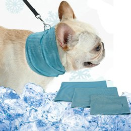 $enCountryForm.capitalKeyWord NZ - Summer Pet Cooling Scarf Dog Instant Ice Cold Collar Bulldog Summer Towel Scarf Wrap Neck Cooling For Dogs Product