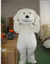 Professional Cartoon Costumes Australia - Professional shipping factory direct new adult white dog Cartoon Mascot Costumes Party Cartoon Characters Costumes