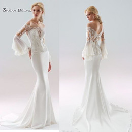 a2a1ad17c9db2 Ivory Trumpet Sleeves Wedding Dress Online Shopping | Ivory Trumpet ...