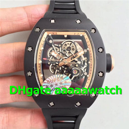 $enCountryForm.capitalKeyWord NZ - 2019 New Luxury Watch 055 Watch MIYOTA8215 Automatic Movement Real Ceramic Case KVF Skeleton Dial Gold Inner Bezel Rubber Strap Men Watch