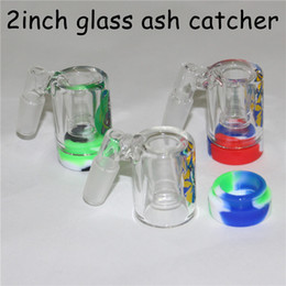 $enCountryForm.capitalKeyWord Australia - New 14mm Male Glass Ash Catcher with 5ml silicone containers and quartz bangers for glass bong water bong glass ashcatcher for smoking pipes