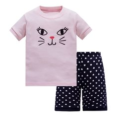 638337c3c2 Summer Baby Boys Girls Pijamas Conjuntos Color de dibujos animados  Dinosaurio Rayas Impresas camisetas + Pantalones Set Niños Homewear Trajes Pijamas  para ...
